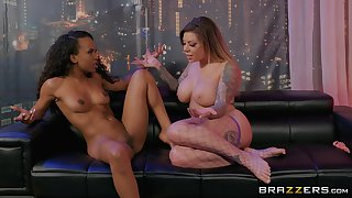 Dirty dancer Demi Sutra likes to lick her girlfriend's wet pussy