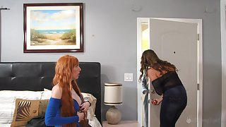 Elexis Monroe and Kristen Scott be aware lesbian fuck until both cum badly